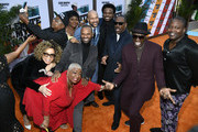 "(L-R) Ruth E. Carter, Luenell, Da'Vine Joy Randolph, Mike Epps, Keegan-Michael Key, Craig Robinson, Eddie Murphy, and Tituss Burgess attend LA Premiere Of Netflix's ""Dolemite Is My Name"" at Regency Village Theatre on September 28, 2019 in Westwood, California."