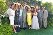 """(L-R) Q'orianka Kilcher, Madeleine Madden, Jeff Wahlberg, Eugenio Derbez, Eva Longoria, Danny Trejo, Isabela Moner, Michael Peña, and Nicholas Coombe attend the LA Premiere of Paramount Pictures' """"Dora And The Lost City Of Gold"""" at Regal Cinemas L.A. Live on July 28, 2019 in Los Angeles, California."""