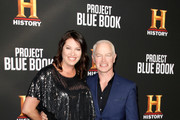 """Ruve McDonough and Neal McDonough attend the LA premiere party for HISTORY's new drama """"Project Blue Book"""" on January 3, 2019 in Los Angeles, California."""