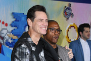 "Jim Carrey and Tommy Davidson attend the LA special screening of Paramount's ""Sonic The Hedgehog"" at Regency Village Theatre on February 12, 2020 in Westwood, California."