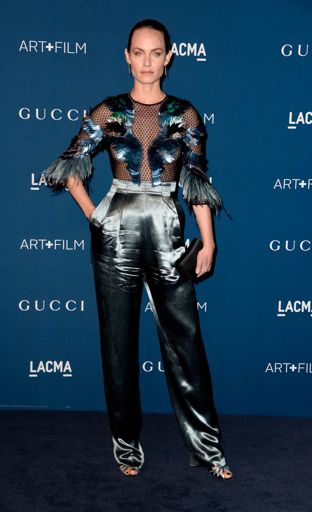 Actress Amber Valletta arrives at the LACMA 2013 Art + Film Gala on November 2, 2013 in Los Angeles, California.
