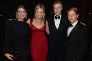(L-R)  Producer Colleen Bell, actress Viveca Paulin-Ferrell, actor Will Ferrell, and producer/writer Bradley Bell attend the LACMA 2013 Art + Film Gala honoring Martin Scorsese and David Hockney presented by Gucci at LACMA on November 2, 2013 in Los Angeles, California.