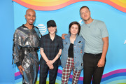 (L-R) Kalen Allen, Sara Quin, Tegan Quin and Dan Reynolds attend LOVELOUD Festival 2019 Powered by AT&T at USANA Amphitheatre on June 29, 2019 in West Valley City, Utah.