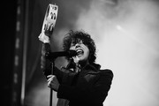Image has been converted to black and white.) LP performs onstage at City National Grove of Anaheim on November 14, 2020 in Anaheim, California.