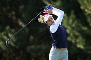 Lexi Thompson of United States plays a tee shot on the 2nd hole during the first round of the LPGA KEB Hana Bank Championship at Sky 72 Golf Club on October 11, 2018 in Incheon, South Korea.