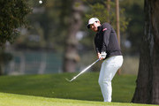 Yani Tseng of Taiwan chips onto the green on the fifth hole during the second round of the Mediheal Championship at Lake Merced Golf Club on April 27, 2018 in Daly City, California.