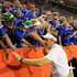 Dan Mullen Photos - Head coach Dan Mullen of the Florida Gators celebrates with fans following a 27-19 victory over the LSU Tigers at Ben Hill Griffin Stadium on October 6, 2018 in Gainesville, Florida. - LSU vs. Florida