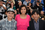 (L-R) Actor Brandon Lopez, actress Karen Martinez and actor Rodolfo Dominguez attend the 'La Jaula De Oro' Photocall during the 66th Annual Cannes Film Festival on May 22, 2013 in Cannes, France.