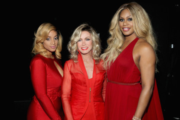 La La Anthony American Heart Association Go Red For Women Red Dress Collection 2015 Presented By Macy's At Mercedes-Benz Fashion Week - Backstage