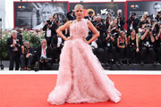 Eleonora Carisi walks the red carpet ahead of the Opening Ceremony and the 'La Vérité' (The Truth) screening during the 76th Venice Film Festival at Sala Grande on August 28, 2019 in Venice, Italy.