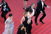 """(L-R) Zhang Ziyi  and Ludivine Sagnier arrive at """"Venus In Fur"""" Premiere during the 66th Annual Cannes Film Festival at Grand Theatre Lumiere on May 25, 2013 in Cannes, France."""