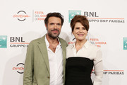 """Nicolas Bedos and Fanny Ardant attend the photocall of the movie """"La belle Epoque"""" during the 14th Rome Film Festival on October 20, 2019 in Rome, Italy."""