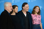 (L-R) Andre Dussollier, Yvonne Catterfeld, Christophe Gans and Lea Seydoux attend the 'La belle et la bete' (Die Schoene und das Biest) photocall during 64th Berlinale International Film Festival at Grand Hyatt Hotel on February 14, 2014 in Berlin, Germany.