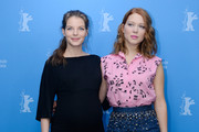 Yvonne Catterfeld and Lea Seydoux attend 'La belle et la bete' (Die Schoene und das Biest) photocall during 64th Berlinale International Film Festival at Grand Hyatt Hotel on February 14, 2014 in Berlin, Germany.
