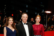(L-R) Actress Yvonne Catterfeld, director Christophe Gans and actress Lea Seydoux attend the 'La belle et la bete' (Die Schoene und das Biest) premiere during 64th Berlinale International Film Festival at Berlinale Palast on February 14, 2014 in Berlin, Germany.