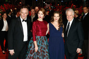 (L-R) Director Christophe Gans, actress Lea Seydoux, actress Yvonne Catterfeld and actor Andre Dussollier attend the 'La belle et la bete' (Die Schoene und das Biest) premiere during 64th Berlinale International Film Festival at Berlinale Palast on February 14, 2014 in Berlin, Germany.