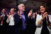 (L-R) Andy Burnham, Yvette Cooper, Jeremy Corbyn and shadow minister Liz Kendall applaude the announcement of the new deputy Labour leader Tom Watson at the Queen Elizabeth II conference centre on September 12, 2015 in London, England. Mr Corbyn was announced as the new Labour leader today following three months of campaigning against fellow candidates ministers Yvette Cooper and Andy Burnham and shadow minister Liz Kendall. The leadership contest comes after Ed Miliband's resignation following the general election defeat in May.