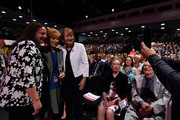 Harriet Harman (R) poses for a photograph with  Mary Turner (C) ahead of Labour Leader Jeremy Corbyn making his first leadership speech on September 29, 2015 in Brighton, England. The four day annual Labour Party Conference takes place in Brighton and is expected to attract thousands of delegates with keynote speeches from influential politicians and over 500 fringe events.
