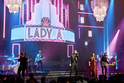 "Recording artists Charles Kelley, Hillary Scott,and Dave Haywood of Lady Antebellum perform as the band kicks off its 15-show residency ""Our Kind of Vegas"" at The Pearl concert theater at Palms Casino Resort on February 8, 2019 in Las Vegas, Nevada."