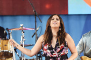 "Hillary Scott of Lady Antebellum performs on ABC's ""Good Morning America"" at Rumsey Playfield on July 14, 2017 in New York City."