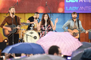 "(L-R) Charles Kelley, Hillary Scott and Dave Haywood of Lady Antebellum perform on ABC's ""Good Morning America"" at Rumsey Playfield on July 14, 2017 in New York City."