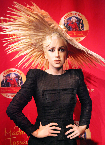 Lady Gaga Lady Gaga's wax figure is unveiled at Madame Tussauds on December 9, 2010 in New York City.