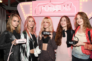 Lady Mary Charteris Poppy Jamie, Suki Waterhouse, Leo Segal, and Cade Hudson Celebrate the Launch of POP & SUKI
