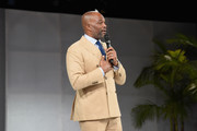 Chris Spencer speaks onstage during The LadyLike Foundation Women Of Excellence Luncheon at The Beverly Hilton Hotel on May 11, 2019 in Beverly Hills, California.