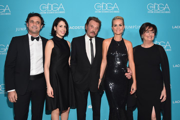 Laeticia Hallyday 17th Costume Designers Guild Awards With Presenting Sponsor Lacoste - Red Carpet