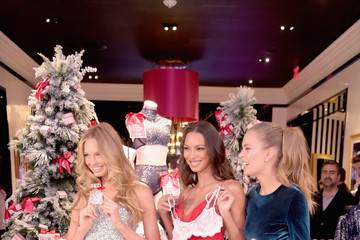 Lais Ribeiro Victoria's Secret Angels Josephine Skriver, Lais Ribeiro, Romee Strijd Celebrate The Victoria's Secret Fashion Show At The New 5th Avenue Store