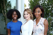 (L-R) Actresses Camille Winbush, Renee Olstead, and Charmaine Bingwa attend the Lambda Legal 2018 West Coast Liberty Awards at the SLS Hotel on June 7, 2018 in Beverly Hills, California.