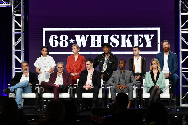 2020 Winter TCA Tour - Day 8 [event,performance,stage,stage equipment,convention,font,talent show,team,music,competition,beth riesgraf,cristina rodlo,roberto benabib,michael lehmann,sam keeley,l-r,top row,bottom row,pasadena,winter tca,cristina rodlo,roberto benabib,jeremy tardy,nicholas coombe,derek theler,beth riesgraf,68 whiskey,paramount network,television,photography]