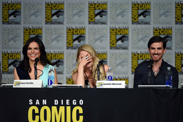 Lana Parrilla Colin O'Donoghue The 'Once Upon A Time' Panel at Comic-Con International 2015