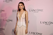 Zendaya, the face of the Lancôme Idôle fragrance, attends the launch at Palais D'Iena on July 02, 2019 in Paris, France.