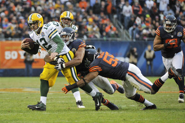 Lance Briggs Green Bay Packers v Chicago Bears
