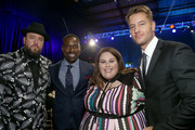 (L-R) Chris Sullivan, Sterling K. Brown, Chrissy Metz and Justin Hartley attend the 23rd Annual Critics' Choice Awards on January 11, 2018 in Santa Monica, California.