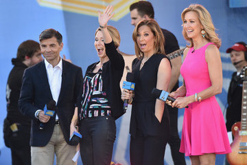 Lara Spencer George Stephanopoulos Jessie J Performs on ABC's 'Good Morning America'