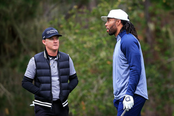 Larry Fitzgerald Jr AT&T Pebble Beach Pro-Am - Round Two