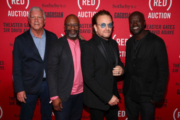 Larry Gagosian The (RED) Auction Photocall