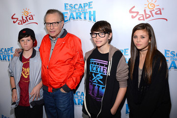 """Larry King Cannon King Premiere Of The Weinstein Company's """"Escape From Planet Earth"""" - Red Carpet"""