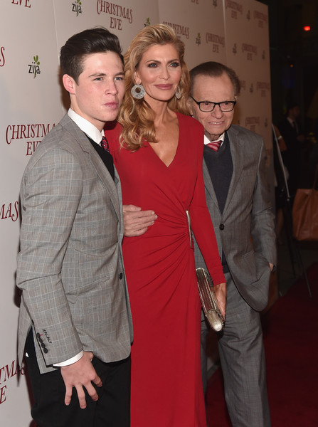 Premiere of 'Christmas Eve' - Red Carpet [christmas eve,red carpet,event,suit,premiere,formal wear,hairstyle,fashion,carpet,dress,flooring,outerwear,shawn king,larry king,cannon king,actress,arclight hollywood,california,premiere,premiere]