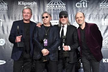 Lars Ulrich Ian Paice 31st Annual Rock and Roll Hall of Fame Induction Ceremony - Press Room