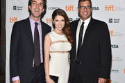 """(L-R) Composer Jason Robert Brown, actress Anna Kendrick and director/writer Richard LaGravenese attend """"The Last Five Years"""" premiere during the 2014 Toronto International Film Festival at Ryerson Theatre on September 7, 2014 in Toronto, Canada."""