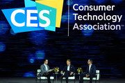 (L-R) Financial Times global media editor Matthew Garrahan, Turner Chairman and CEO John Martin and Hulu CEO Randy Freer participate in a keynote panel on reimagining television at CES 2018 at Park Theater at Monte Carlo Resort and Casino in Las Vegas on January 10, 2018 in Las Vegas, Nevada. CES, the world's largest annual consumer technology trade show, runs through January 12 and features about 3,900 exhibitors showing off their latest products and services to more than 170,000 attendees.