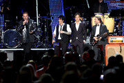 Honorees Fher Olvera, Alex Gonzalez, Juan Calleros, and Sergio Vallin of Mana perform onstage at the Latin Recording Academy's 2018 Person of the Year gala honoring Mana at the Mandalay Bay Events Center on November 14, 2018 in Las Vegas, Nevada.