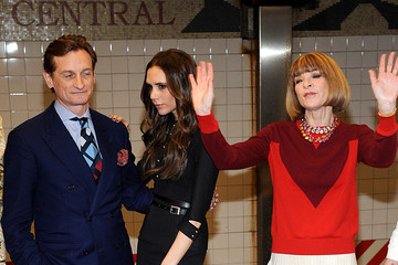 Victoria Beckham Hamish Bowles Launch Of Britain's GREAT Campaign