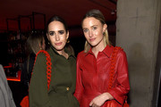 Louise Roe and Rebecca Laurey attend the launch of the ESCADA Heartbag by Rita Ora on March 27, 2019 in New York City.