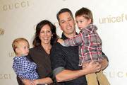 (L-R) Enzo Allen, Annabeth Gish, Wade Allen and Cash Allen attend the Launch of Gucci Children's Collection on November 20, 2010 in Beverly Hills, California.