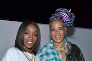 Estelle (L) and Kelis attend the launch of the Jane Club in Larchmont Village on April 04, 2019 in Los Angeles, California.