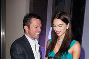 (EXCLUSIVE ACCESS) Liliana Matthaeus (R) & Lothar Matthaeus attend the 'Launch of the new Windows Phone by Deutsche Telekom' at Hotel de Rome on October 20, 2010 in Berlin, Germany.